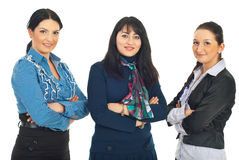 Row of three business women Royalty Free Stock Image