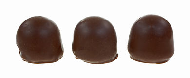 Chocolates Cherry Filled Three Row Stock Image