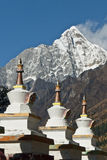 A row of Tibetan stupas Stock Image