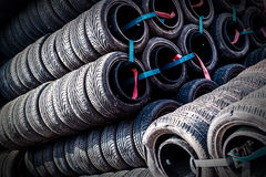 Row of tires Royalty Free Stock Image