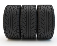 Row of tires Stock Photography