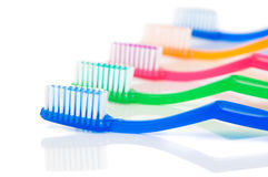 Row Of Toothbrushes Royalty Free Stock Images