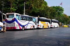Row of tourits buses Stock Image