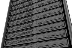 Row of tower servers Royalty Free Stock Photography