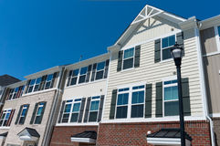 Row of town homes. Row of newly constructed town homes Stock Images