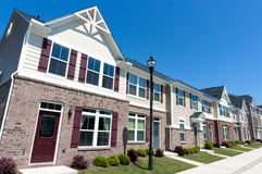 Row of town homes. Row of newly constructed town homes Stock Photos