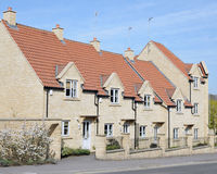 Row of Town Houses. Exterior of a Row of New Town Houses Stock Photo