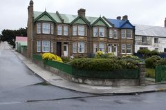 Row of town houses royalty free stock images