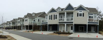 Townhomes in a neighborhood Royalty Free Stock Photos