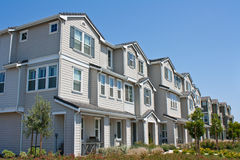 Row of Townhomes Royalty Free Stock Images
