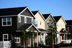 Row of Townhouses Royalty Free Stock Photos