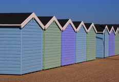 Row of traditional beach huts Stock Photo