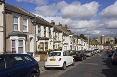 Row of traditional British houses Royalty Free Stock Photography