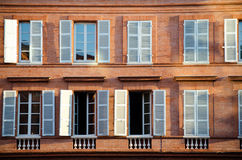 Row of traditional french windows Royalty Free Stock Photography