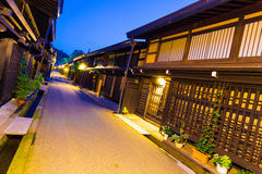Row Traditional Japanese Houses Takayama Old Town Stock Photo