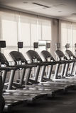 Row of treadmills. Royalty Free Stock Image