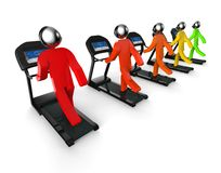 Row of treadmills Royalty Free Stock Images