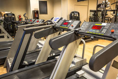 Row of Treadmills Stock Image