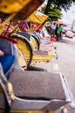 Row of trishaws Stock Image