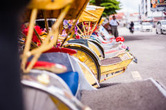 Row of trishaws Royalty Free Stock Photos