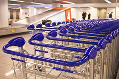 Row of trolleys Royalty Free Stock Images