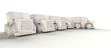 Row of trucks Stock Image