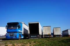 Row of trucks Royalty Free Stock Photos