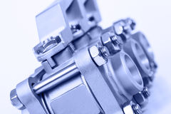 The row from two ball valves Stock Photography