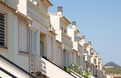 Row of typical spanish apartments Stock Photos