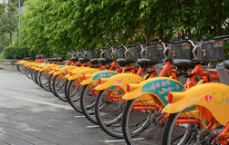 Row of Ubike in Taipei Stock Photos