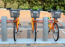 Row of Ubike in Taipei Royalty Free Stock Images