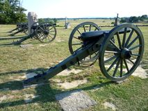 Row of Union Canons Royalty Free Stock Photo