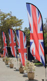 Row of Union Flags or Union Jacks Royalty Free Stock Images