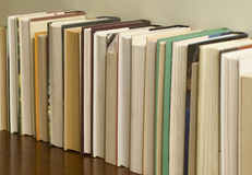 Row of unrecognizable books_1 Stock Photography
