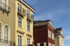 A row of upscale houses Stock Images