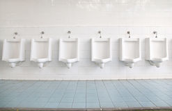 Row of urinals Stock Images