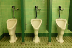 Row of Urinals Royalty Free Stock Images