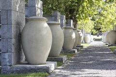 A Row of Urns Stock Image