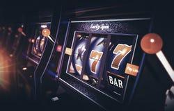 Row of Vegas Slot Machine Royalty Free Stock Photos
