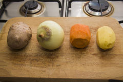 Row of vegetables Stock Photography