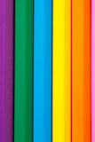 Row of the vertical Color pencils close up Stock Photos