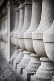 Row of Concrete Balusters. Row of Victorian concrete balusters.  Selective focus Royalty Free Stock Photography