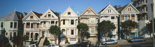 Row of Victorian homes, Royalty Free Stock Photos