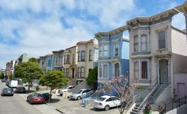 Row of Victorian Italianate houses in San Francisco, California Stock Image