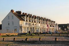 Row of victorian seafront properties stock photography