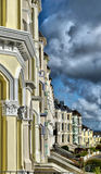 Row of Victorian Terraced Houses. HDR Image of Row of Victorian Terraced Houses with dramatic cloudy sky Stock Photography