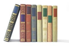Row of vintage books Stock Image