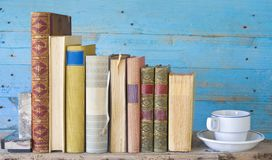 Row of vintage books Stock Images