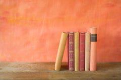 Row of vintage books Stock Photos