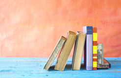 Row of vintage books Stock Photography